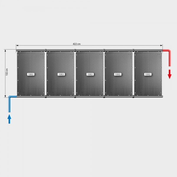 Pool-Solarheizung POOLSANA OKU Set 10 | Flachdachmontage