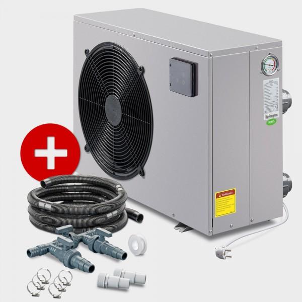 Poolheizung Wärmepumpe POOLSANA PROMO NEXT 5 + Anschluss-Set 38 mm