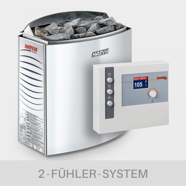 Saunaofen-Set Harvia Vega 6 / 8 / 9 kW 400 V + Saunasteuerung POOLSANA L2-D2S Comfort