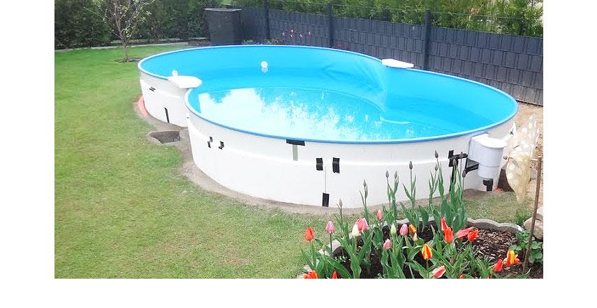 Achtformpool achtformbecken pool poolsana for Stahlwandbecken aufbau