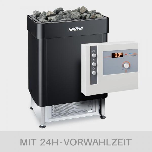 Saunaofen-Set Harvia Senator 9 kW BLACK EDITION mit Saunasteuerung L2 Comfort