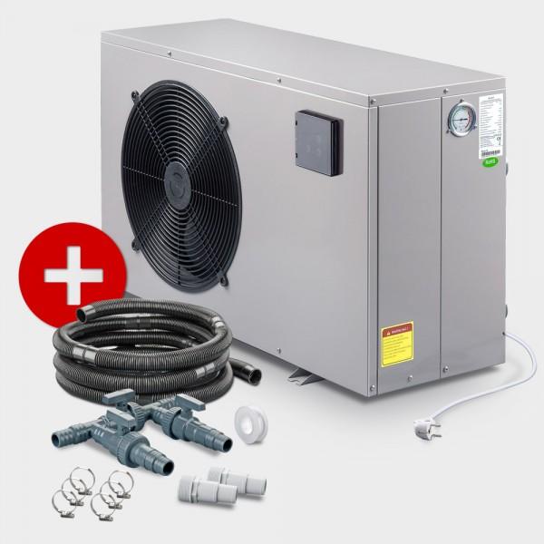 Poolheizung Wärmepumpe POOLSANA PROMO NEXT 8 + Anschluss-Set 38 mm