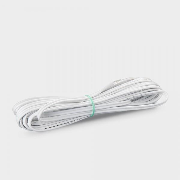 Silikonfühlerleitung 2 x 0,5 mm² weiß 4,5 m