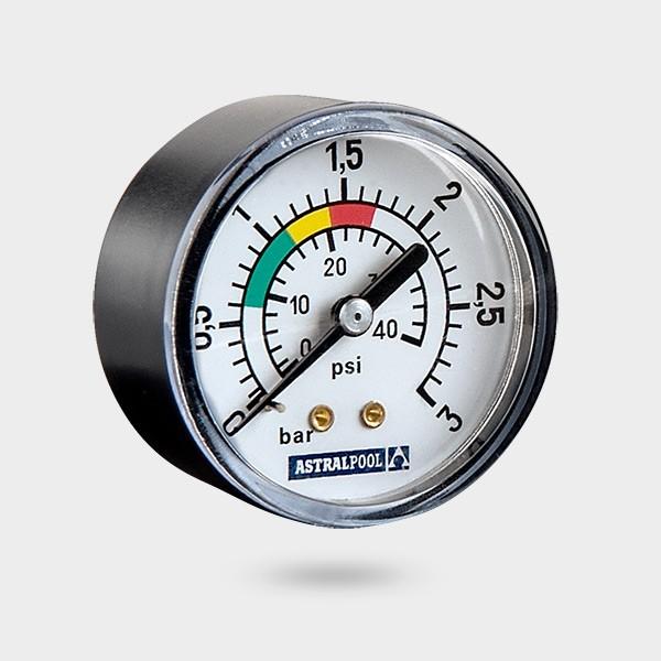 "Druckmanometer mit hinterem Anschluss 1/8"" AG"