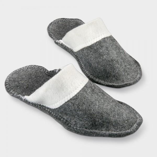 Sauna-Pantoffeln grau