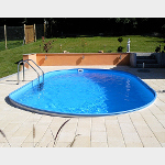 Oval-Schwimmbecken Made in Germany mit PVC-Poolfolie 0,8 mm