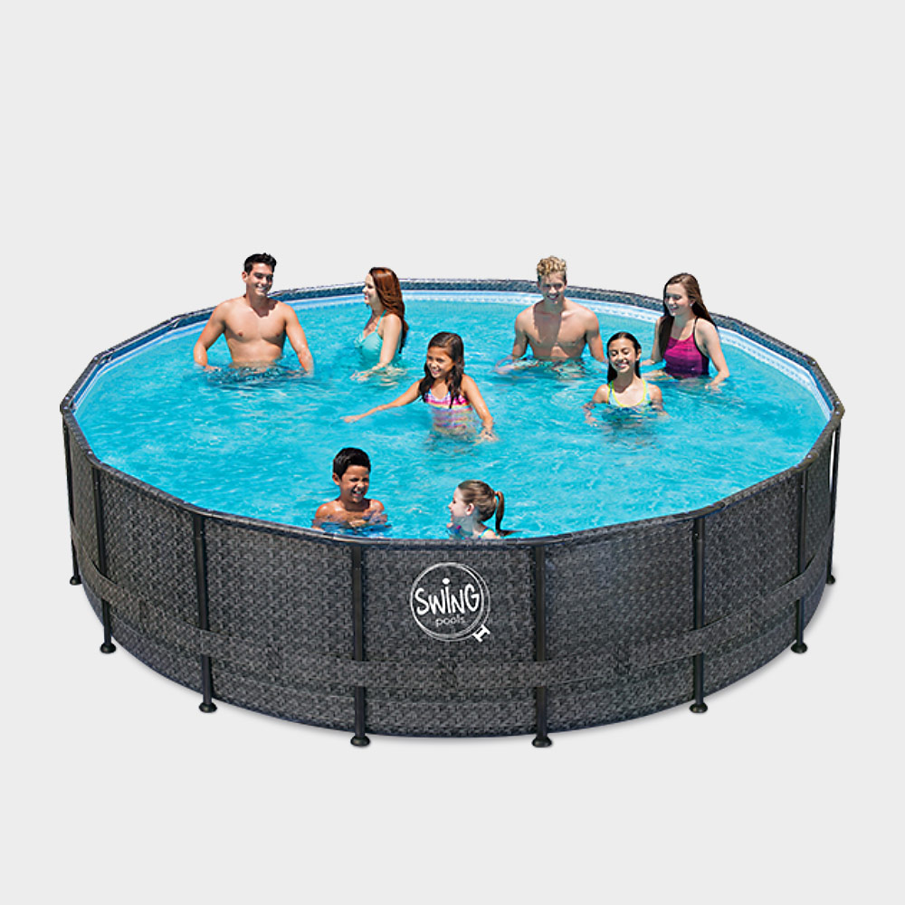 frame pool prime rund wicker dark 488 x 122 cm frame pool prime rund wicker dark 488 x 122 cm. Black Bedroom Furniture Sets. Home Design Ideas