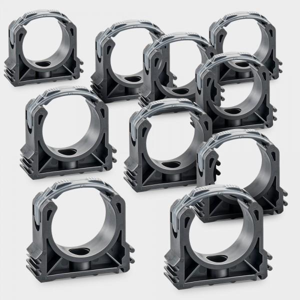 10er Pack Rohrschellen 50 mm