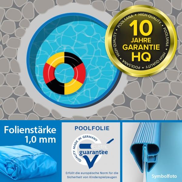 Einzelbecken Stahlwand-Rundpool PS HQ 5,00 x 1,35 m | Folie 1,0 mm blau