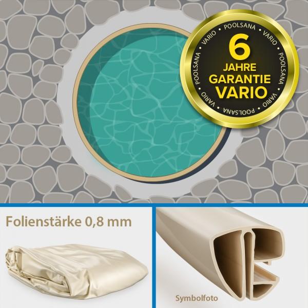 Einzelbecken Stahlwand-Rundpool PS VARIO 3,60 x 1,20 m | Folie + Handlauf sand