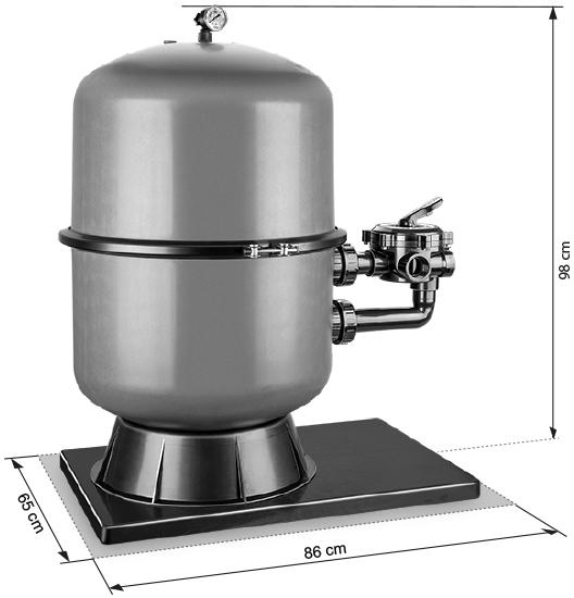 Abmessungen Filteranlage Premium 500