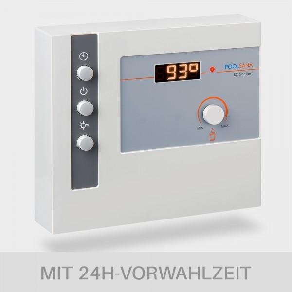 Saunasteuerung POOLSANA L2 Comfort mit digitaler Temperaturregelung und 24h-Vorwahlzeit