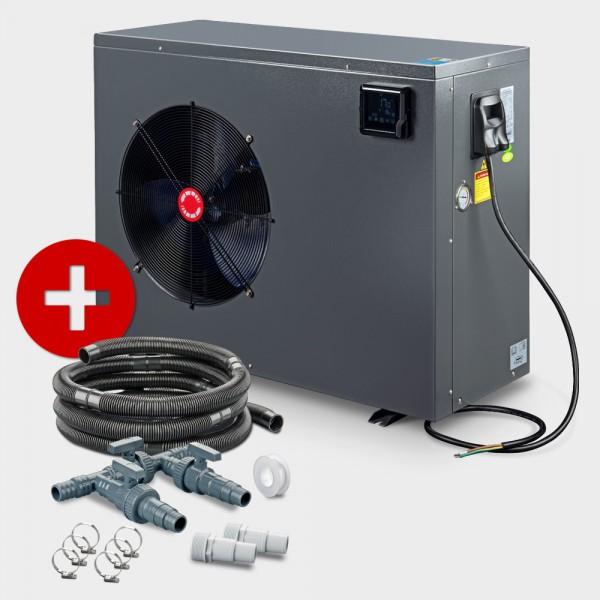 Schwimmbad Full-Inverter-Wärmepumpe POOLSANA InverPRO 21 + Anschluss-Set 38 mm