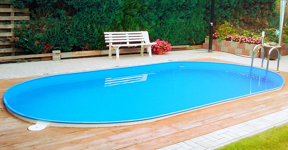 Stahlwand ovalpool poolsana hq 8 00 x 4 00 x 1 50 m plus for Pool aufstellbar