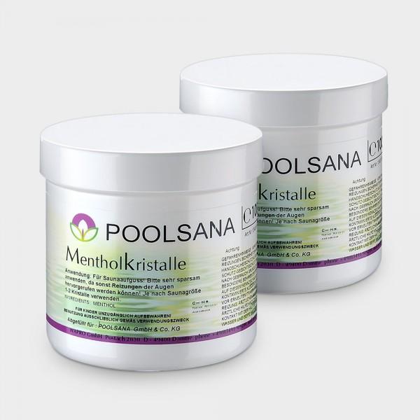 Saunaaufguss POOLSANA Mentholkristalle 2 x 100 g