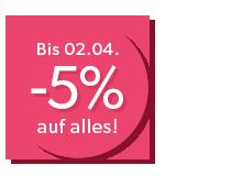 5% Rabatt auf alles