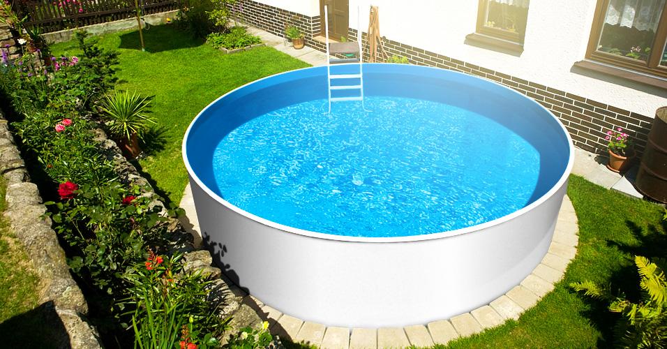Rundpool poolsana plain 3 60 x 0 90 m folie 0 4 mm pure for Rundpool folie