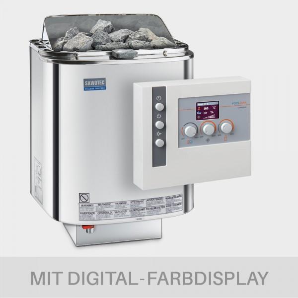 Bio-Kombiofen-Set Nordex Combi 9 kW + Saunasteuerung POOLSANA Clima Lux