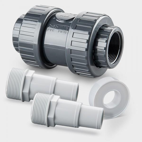 Set Rückschlagventil für Ø 32/38 mm Schlauchanschluss