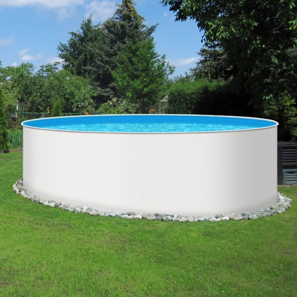 Einzelbecken Rundpool POOLSANA PLAIN 4,60 x 1,20 m Folie 0,4 mm