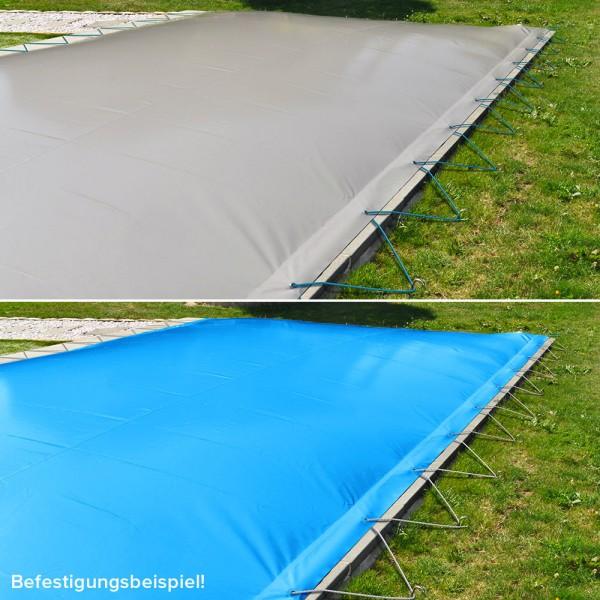 Aufblasbare Abdeckung PS AIR PROTECT PREMIUM für Rechteckpool 6,00 x 3,00 m | Bicolor: Grau/Blau