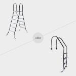 Hochbeckenleiter oder Einhänge-Poolleiter aus Edelstahl