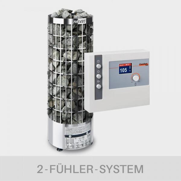 Saunaofen-Set Harvia Cilindro E (offen) 9 kW 400 V + Saunasteuerung POOLSANA L2-D2S Comfort