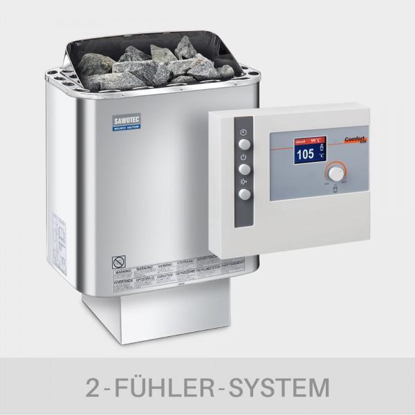 Saunaofen-Set Nordex Next 6 / 8 / 9 kW 400 V + Saunasteuerung POOLSANA L2-D2S Comfort
