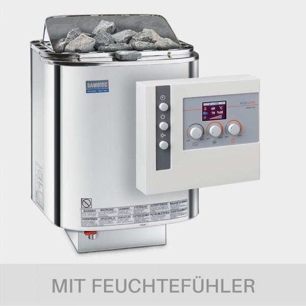 Kombiofen-Set Nordex Combi 9 kW 400 V + Saunasteuerung POOLSANA Clima Lux mit Feuchtefühler
