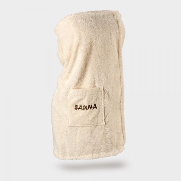 Sauna-Kilt für Damen mit Knöpfen perle