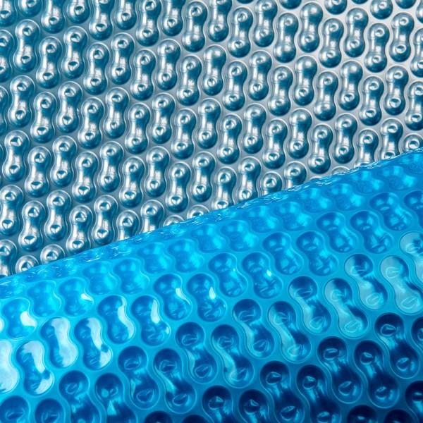 Solarfolie PREMIUM 400 my GeoBubble für Ovalbecken Blau/Silber