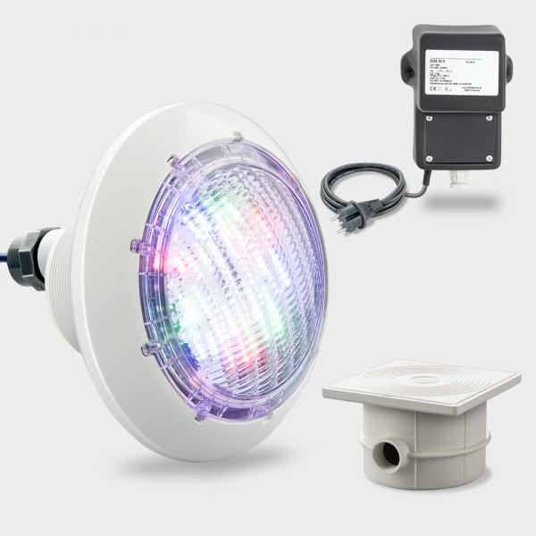 Set LED Poolscheinwerfer RGB COMPACT POWER 40 W