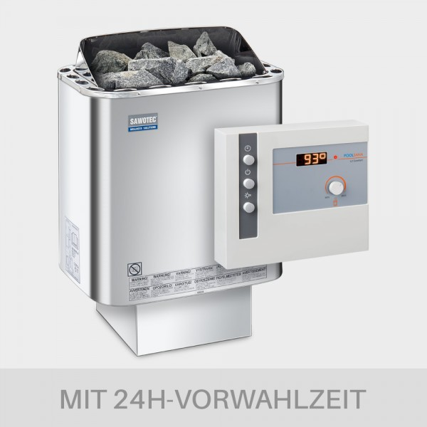 Saunaofen-Set Nordex Next 6 / 8 / 9 kW 400 V + Saunasteuerung POOLSANA L2 Comfort