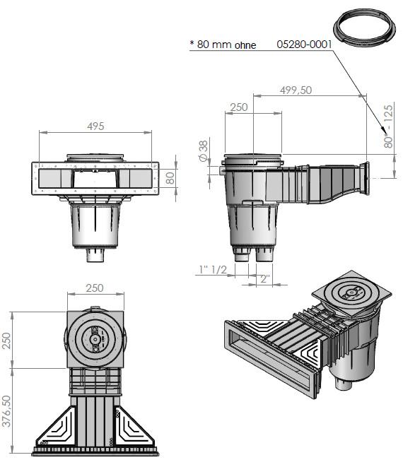 einbau breitmaulskimmer 17 5 slim. Black Bedroom Furniture Sets. Home Design Ideas