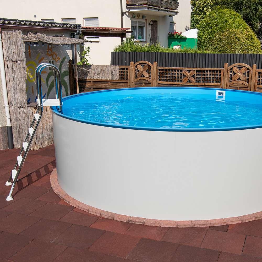 pool in der erde aufbau von stahlwand-pools in  schritten | poolsana - der