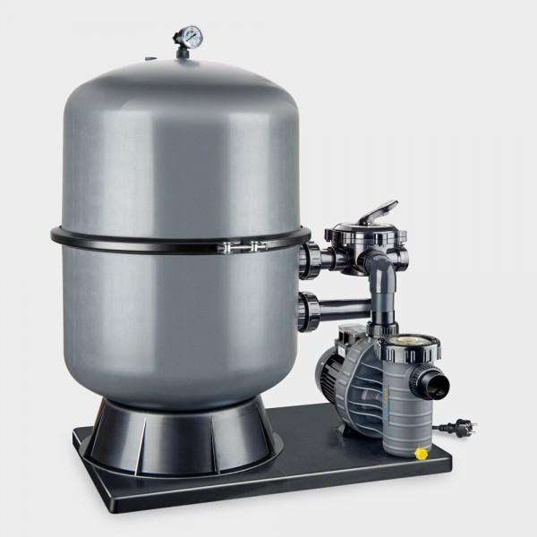 Sandfilteranlage POOLSANA PREMIUM 500 mit Aqua Vario Plus POOLSANA-Edition anthrazit