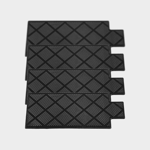 Stufenauflagen Kunststoff schwarz (4 Stück)