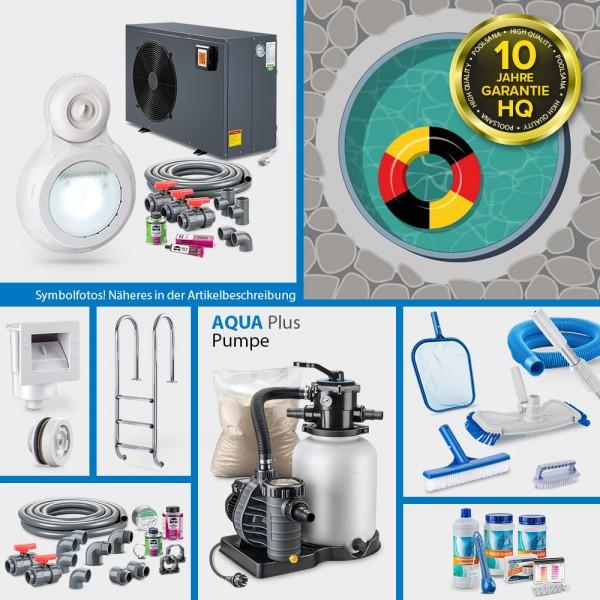 Rundpool PS HQ 4,50x1,20m | Alu-Handlauf | Folie sand | PROMO-Set PRIME | Teil-/Kompletteinbau