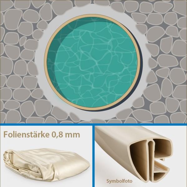 2. Wahl: Einzelbecken Stahlwand-Rundpool PS VARIO 3,60 x 1,20 m | Folie + Handlauf sand