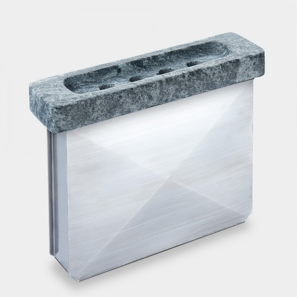 Ofen-Luftbefeuchter aus Edelstahl mit Speckstein-Abdeckung