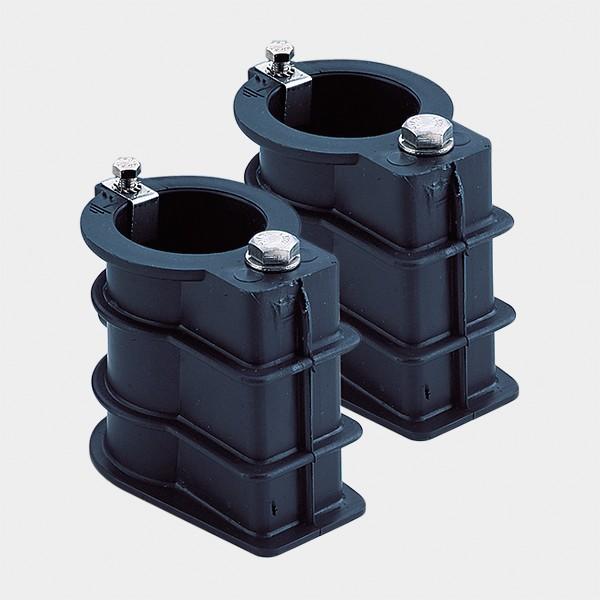 Paar Kunststoff-Einbauhülsen für Einstiegsleiter