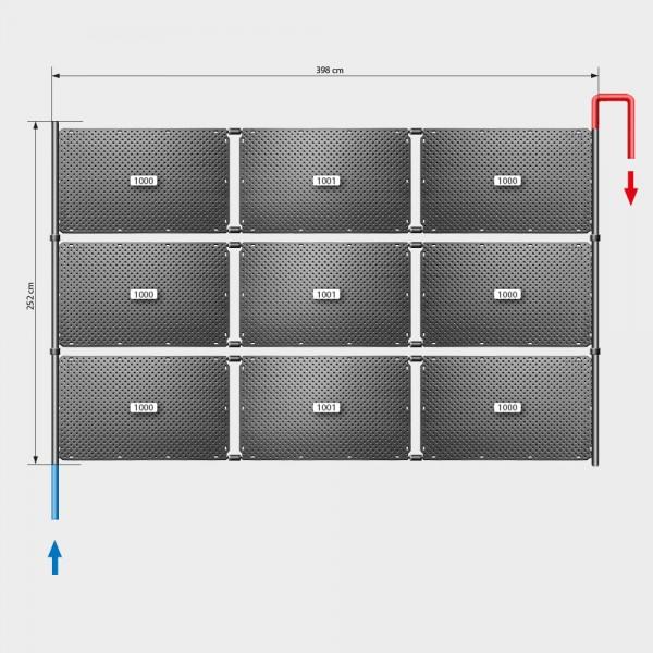 Pool-Solarheizung POOLSANA OKU Set 18 | Flachdachmontage