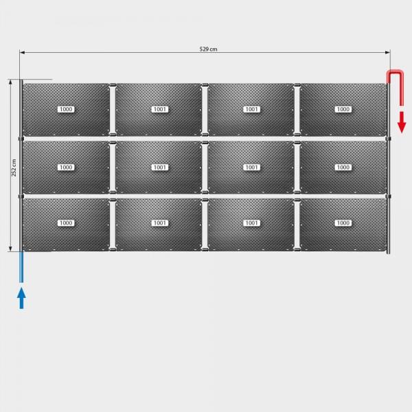 Pool-Solarheizung POOLSANA OKU Set 24 | Flachdachmontage