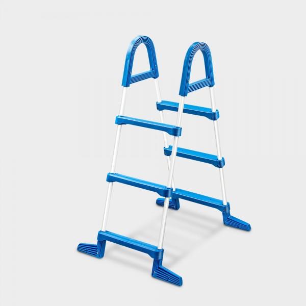 Stahlrohrleiter 3-stufig für Aufstellp. bis 90 cm