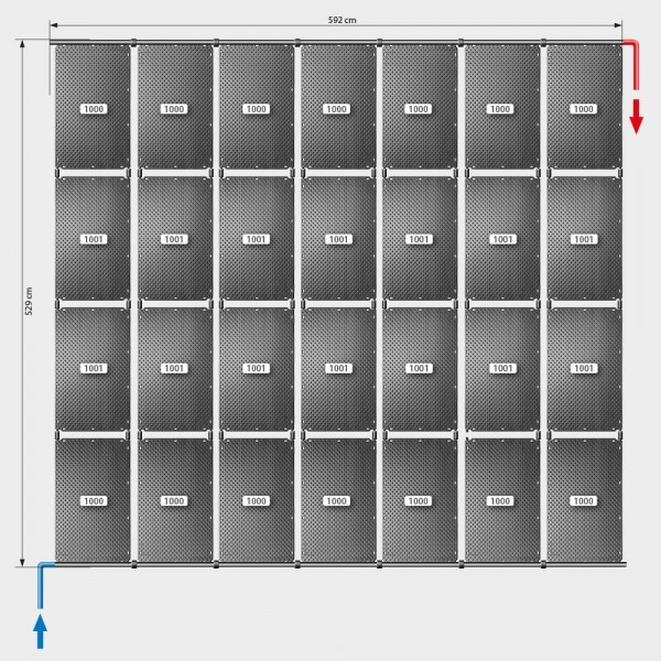 Pool-Solarheizung POOLSANA OKU Set 56 | Flachdachmontage