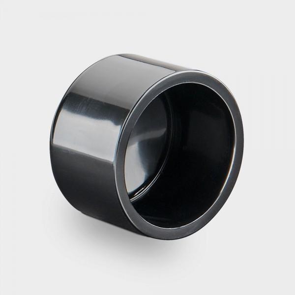 Klebekappe 50 mm schwarz
