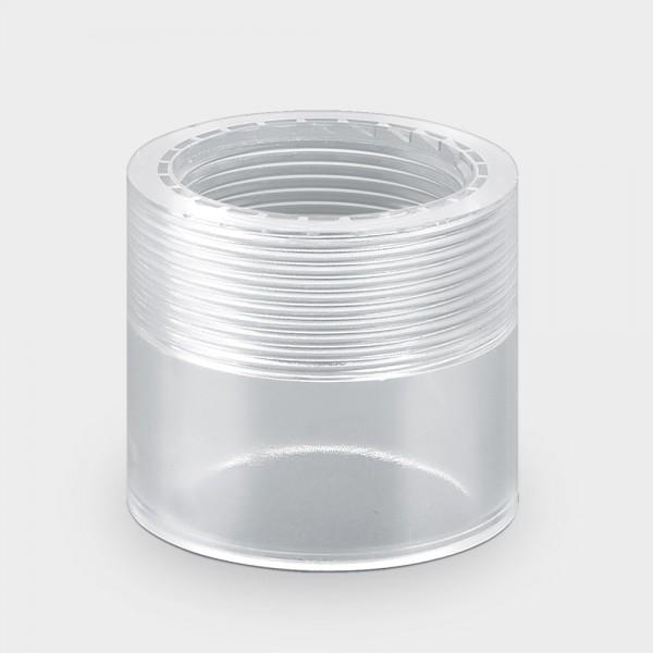 """Klarsicht-Reduzierung 63/50 mm x 1 1/2"""" IG"""