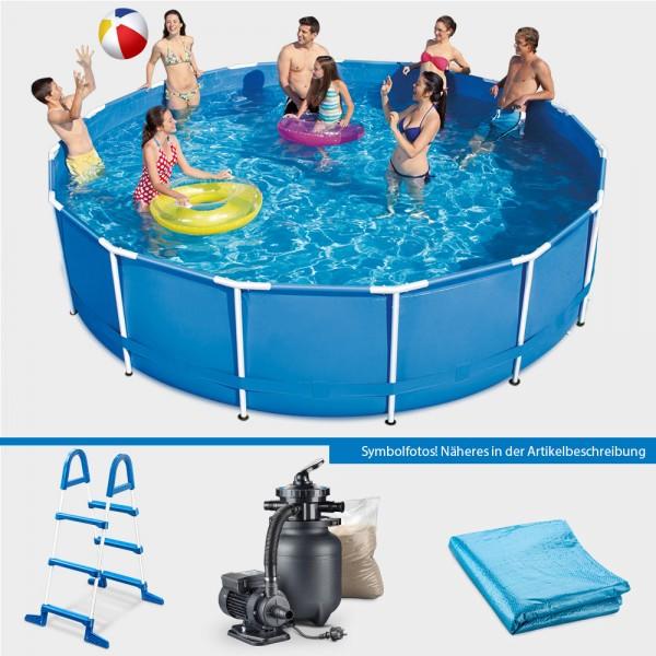 Frame Pool POLE Rund 366 x 91 cm PURE-Set