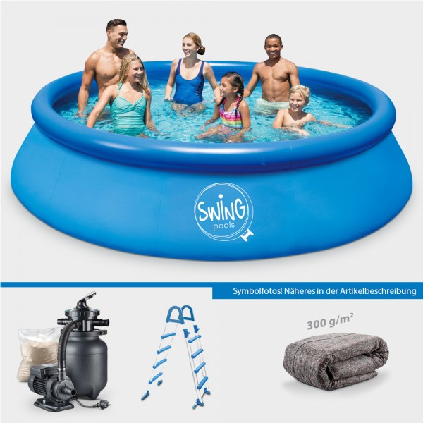 Quick-Up-Pool PRONTO 457 x 122 cm PROTECT-Set