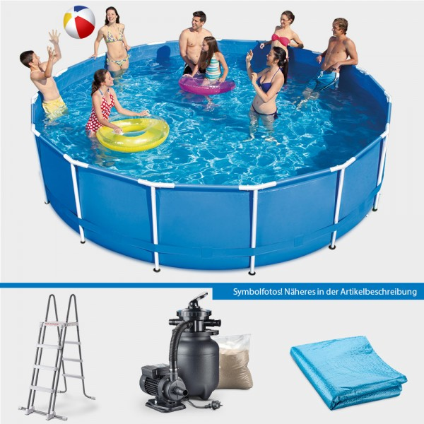 Frame Pool POLE Rund 457 x 122 cm PROTECT PURE-Set